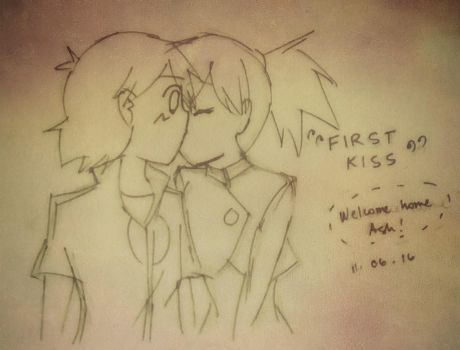 first kiss by Uta-Makoto-chan