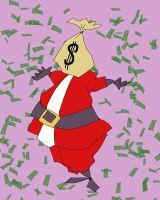 Santa Cash Is Coming To Town by quentinlars