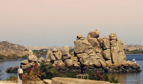 View outside Philia Temple , Aswan,Egypt by Drfayed