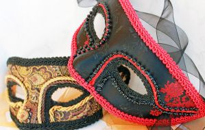 Men's Brocade Masquerade Masks by DaraGallery