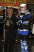 Mr.Freeze and Scarecrow by VoiceofSupergirl