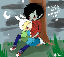 Fionna and Marshall Lee by ChocoRevolution