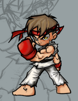 Ryu Chibi Colour by Cypher7523