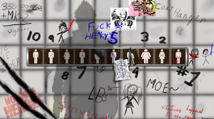 No More Heroes Bathroom wall by JanelleFox