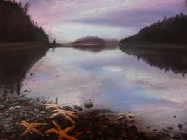 Pastel: first landscape O: by Deiface