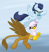 Commission - Soarin and Gilda Race by Ambris