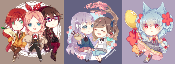 !!Personal OC Charms!! by AmaiCandy