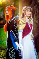 Zelda and Midna by LayzeMichelle