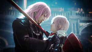 Lightning confronts Marluxia by Sephellone