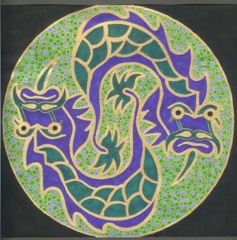 Chinese Dragon Mandala by Jewelfly
