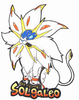 Color Pencil Art - Solgaleo