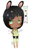 Galaxy Bunny - CLOSED by StarryNekoAdopts
