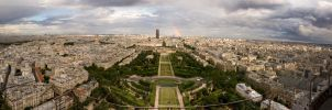 Panorama from Eiffel Tower by awropa