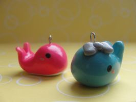 Cute Clay Whales by CraftyOlivia