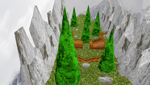 MMD Stone Valley Stage by mbarnesMMD
