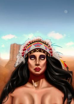 Another apache woman by DHumberto