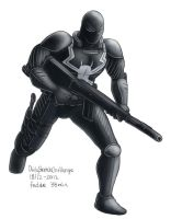 Daily Sketches Agent Venom by fedde