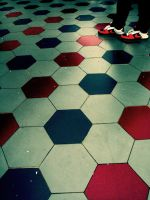 shoes and the floor. by onodaydreamer