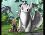 Snowdrop and Runa (HTTYD2 Oc) by Ally-the-Fox-20
