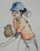 Baseball Player (in motion) by orangepiano
