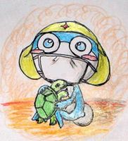 Zeroro and his turtle by Windymon