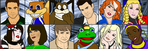 Video Game Wars 5 - Roster by Owlot