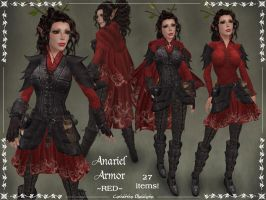 Anariel Armor Only -RED- by Elvina-Ewing