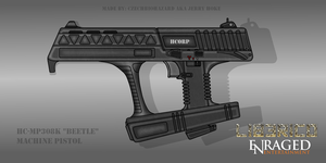 Fictional Firearm: HC-MP308k Machine Pistol by CzechBiohazard