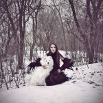 She and Her Dog by psychiatrique