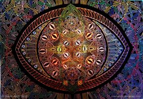 Mandala of the Vesica P-EYE-sces by TravisAitch