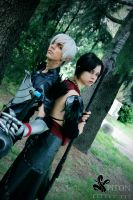 Fenris and Morrigan - Dragon Age by DarkyLeon