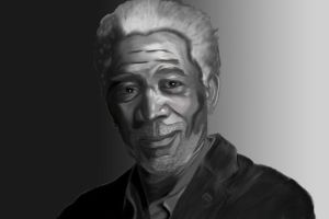 Gift: Morgan Freeman by Shakkara1