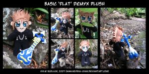 Basic 'flat' Demyx Plushie by KeyshaKitty