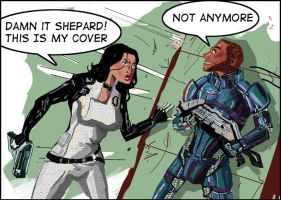 Mass Effect 2: Stealing Cover by Dunnstar