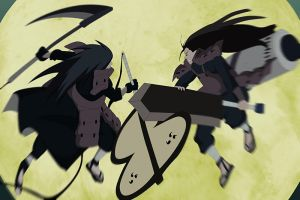 Naruto 620 Hashirama And Madara Clash  by bangalybashir