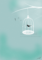 The Caged Bird by Moonacat