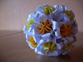 Yellow Sweet Kusudama by happy96