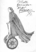Snape on a Segway-signed by AR by KB-Shine