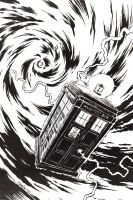 Charity Auction TARDIS by artistjerrybennett