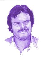 Jack Black Pen Portrait by Craig-Stannard