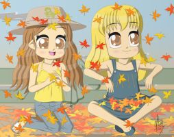 Autumn leaves are falling by Yitzin