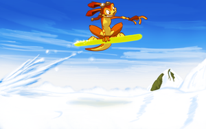 Daxter Shreds The Snow by Weaselgrease