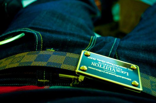Louis Vuitton Damier Belt by Hextacy