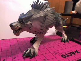 Warcraft Wolf Papercraft by Meercat122