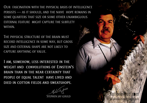 Epic Stephen Jay Gould quote.. by rationalhub