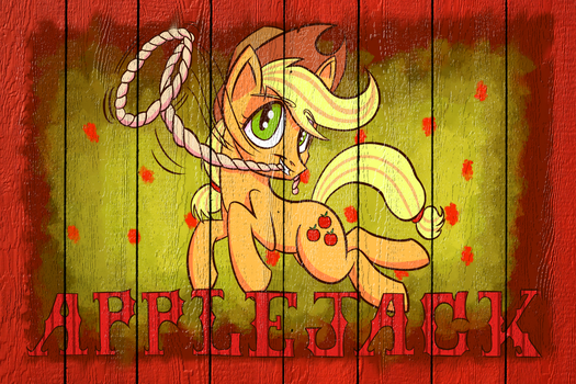Applejack Poster (Wall Edit) by SirDeeViant