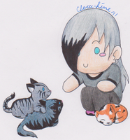 Kittens: He Loves Them by Cheru-Hime