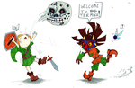 A warm welcome form Skull Kid by Franken-Fish