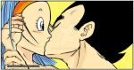 Firstkiss Vegeta and Bulma by celesten