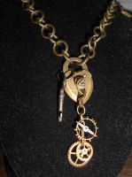 Heart-locket, clock work pendant by lilvoodoo